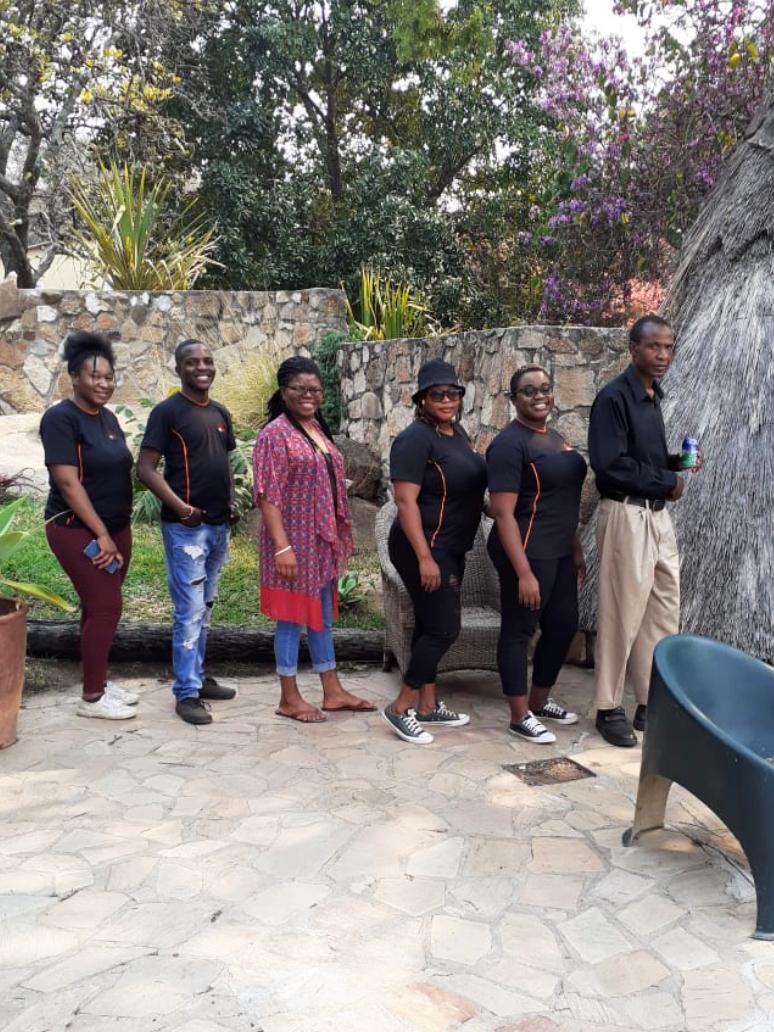 NEC staff 2021 teambuilding workshop at Tree of Life Adventures